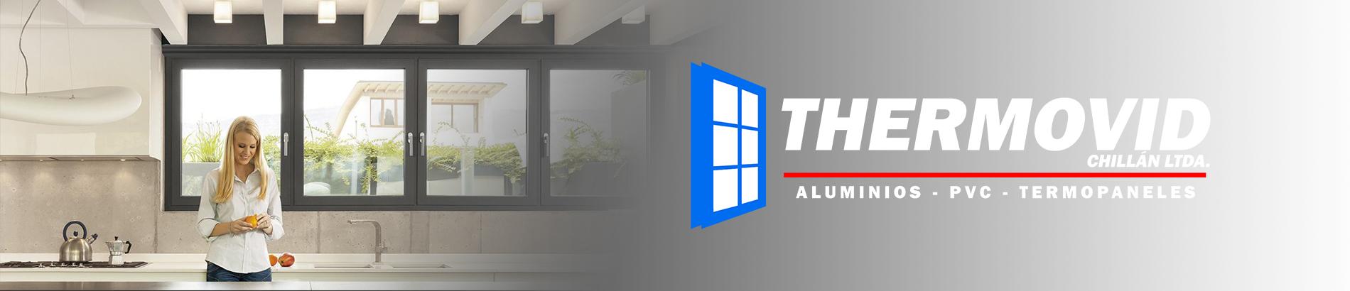 AHORRE CON VENTANAS DE PVC THERMOVID CHILLÁN LTDA Con las ventanas de PVC THERMOVID CHILLAN LTDA usted podrá tener ahorros considerables en los costos de calefacción y climatización. Entre las principales ventajas que las caracterizan se destaca: - Ahorro energético - Baja conductividad térmica - Hermeticidad - Alta resistencia - Seguridad